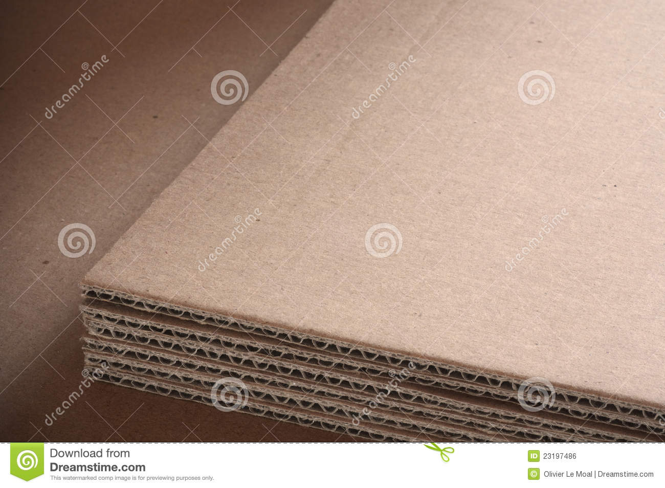 Corrugated Cardboard Sheets Background Royalty Free Stock