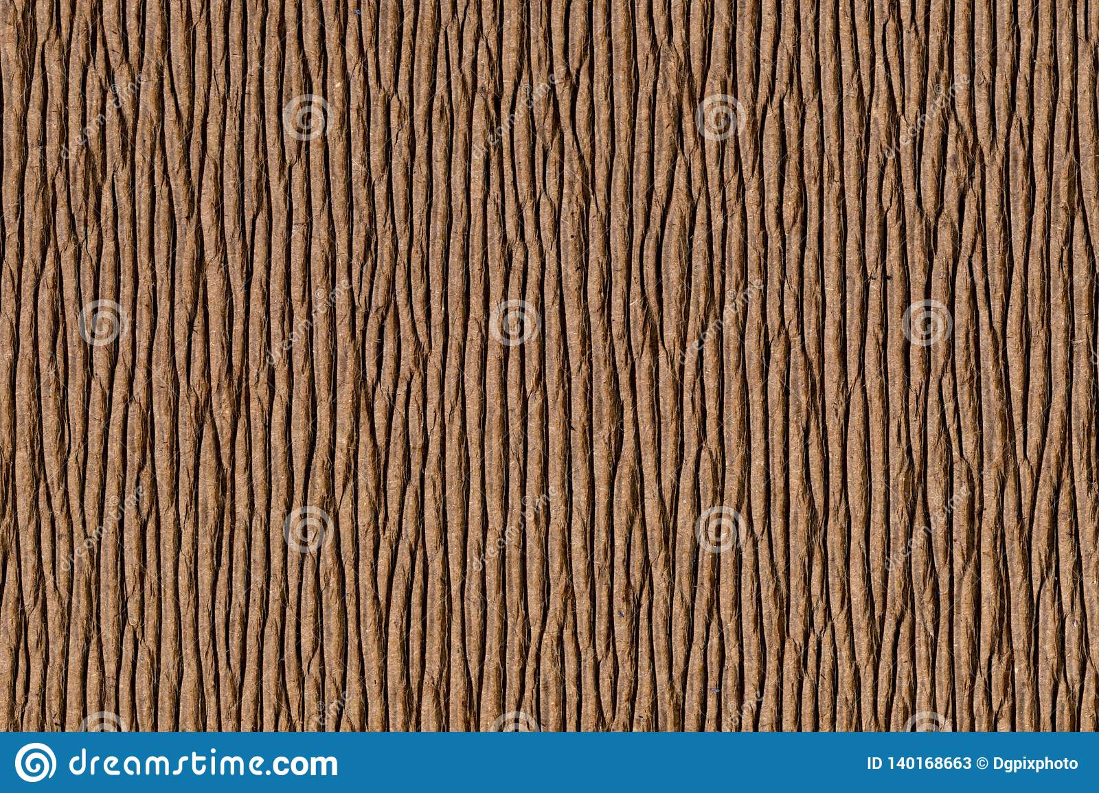 Corrugated cardboard similar to tree bark
