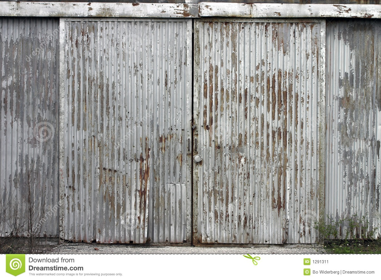 Corrugated Door At Abandoned Factory Building Stock Image - Image ... Old Factory Building