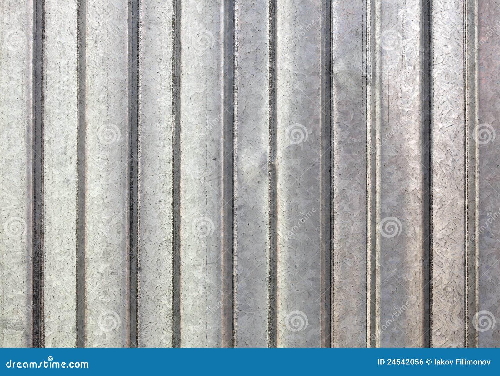 Corrugated Galvanized Metal Background Stock Photo Image