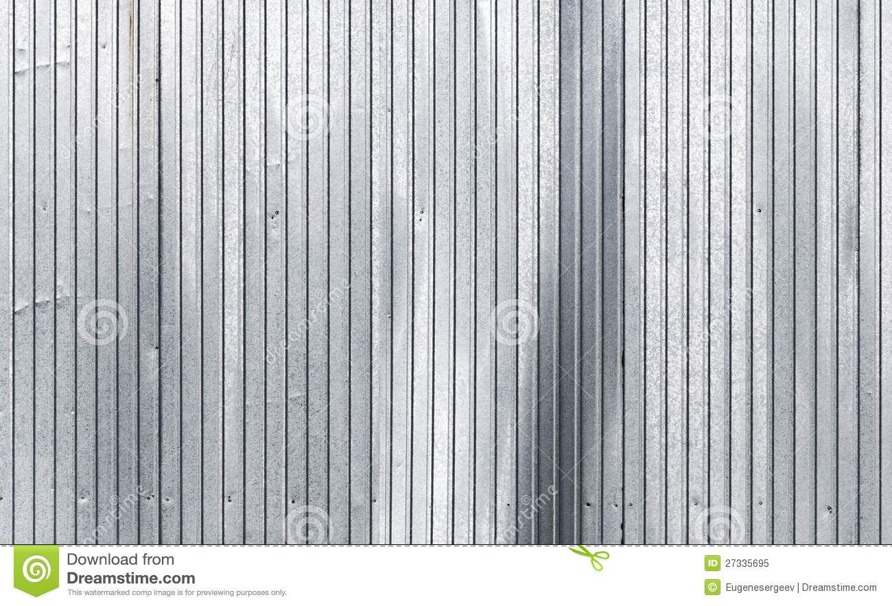 Corrugated Galvanized Metal Wall Texture Stock Image