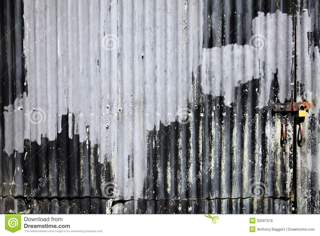 Corrugated Iron Fence Background Royalty Free Stock Image