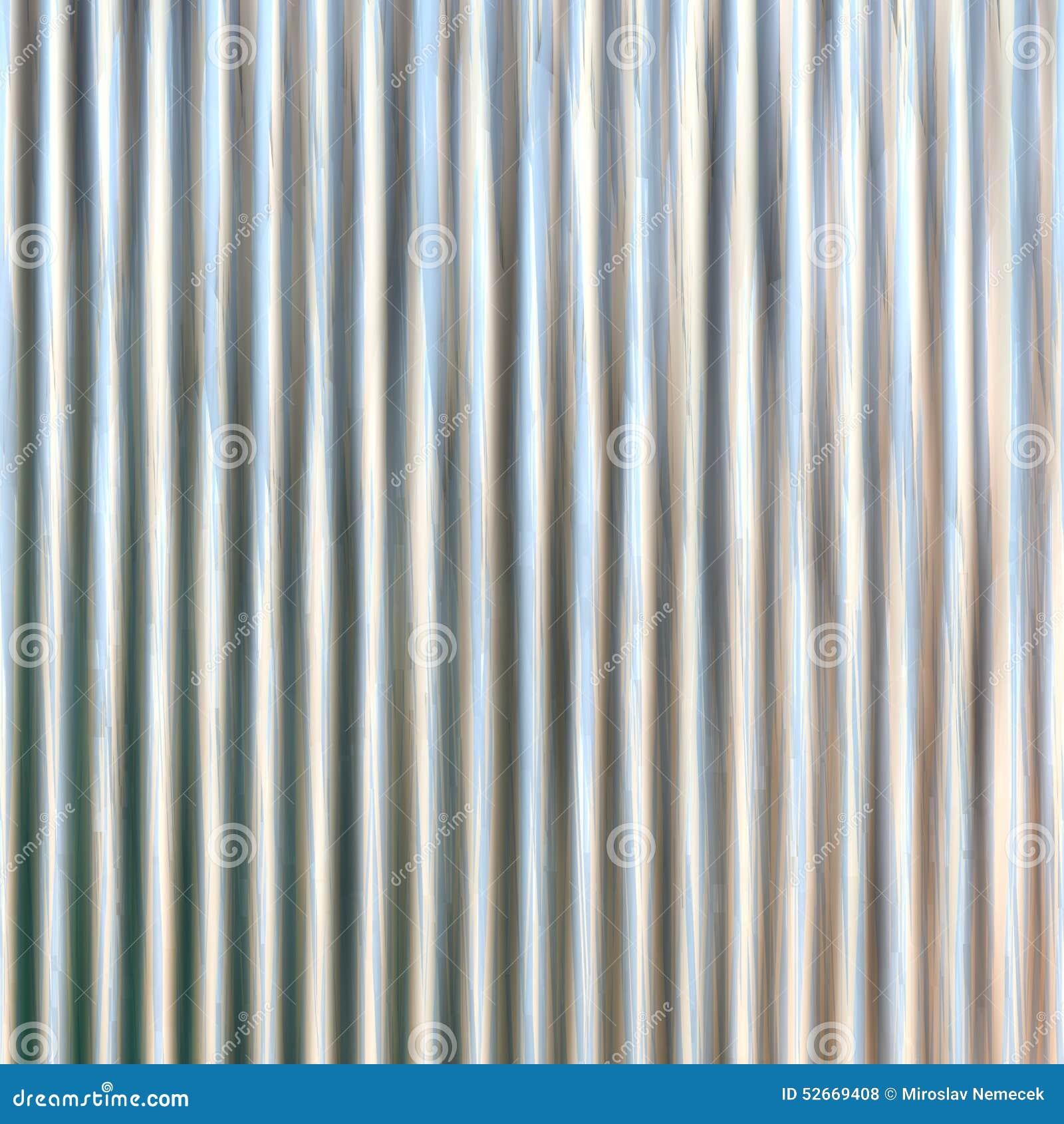 Corrugated Iron Sheet Generated Texture Stock Illustration