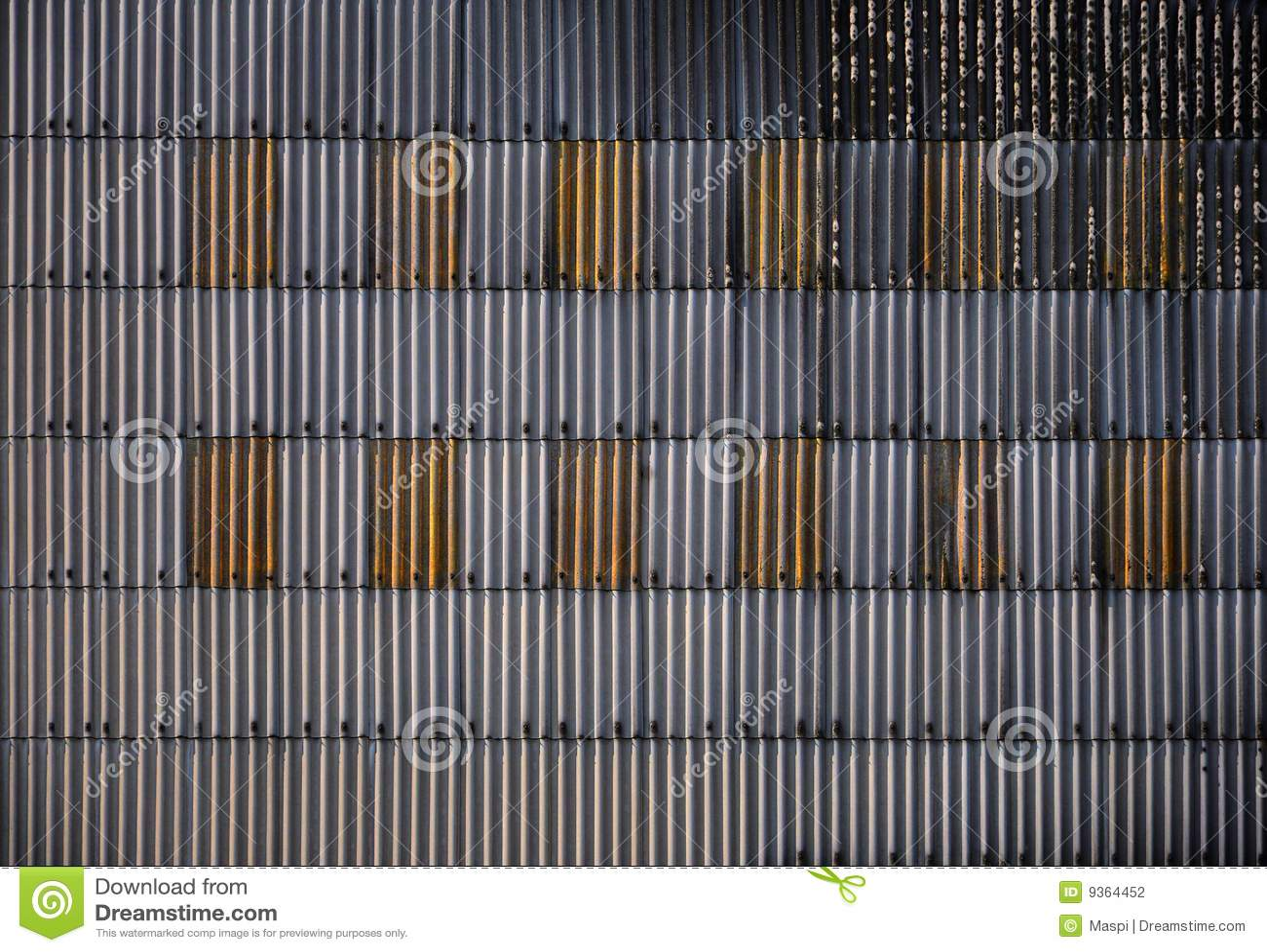 Corrugated Iron Wall Stock Photography Image 9364452