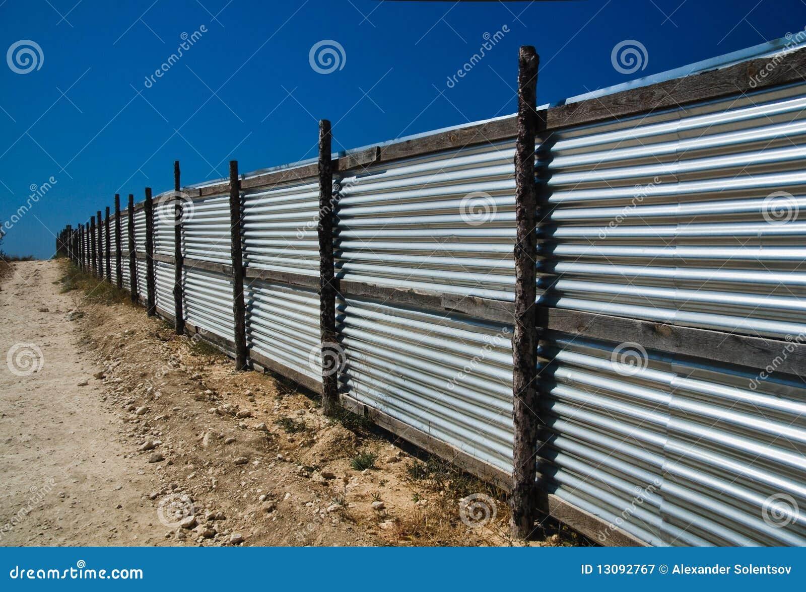 corrugated metal fence panels wood frame corrugated metal fence stock image image of material 13092767