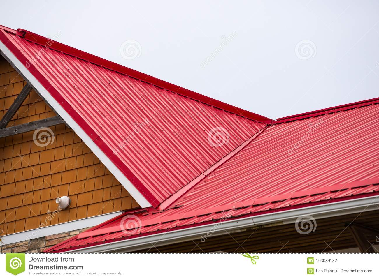 Corrugated Metal Roof Stock Photo Image Of Metal