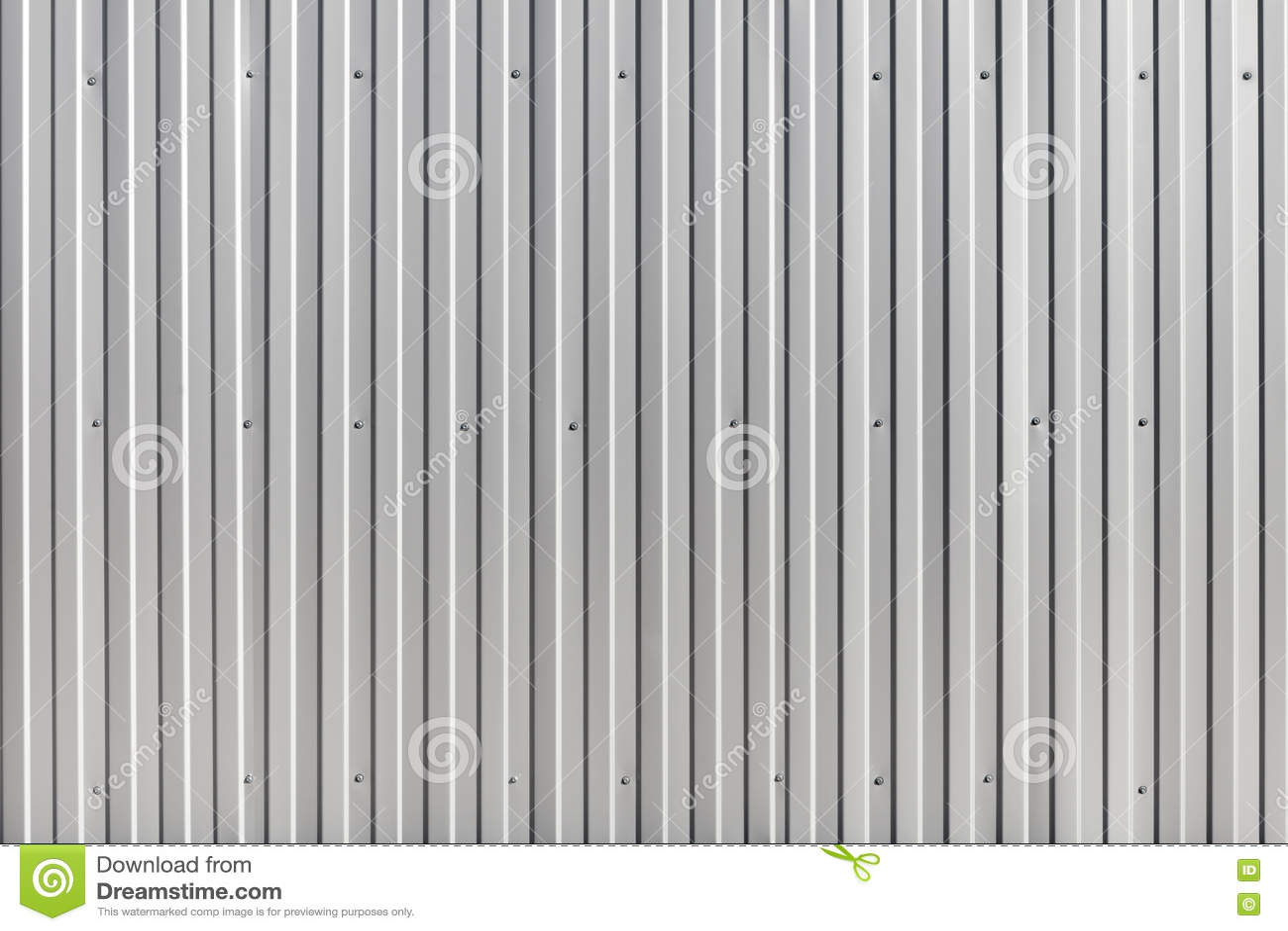 Corrugated Metal Walls corrugated metal wall, metal construction fence. stock photo