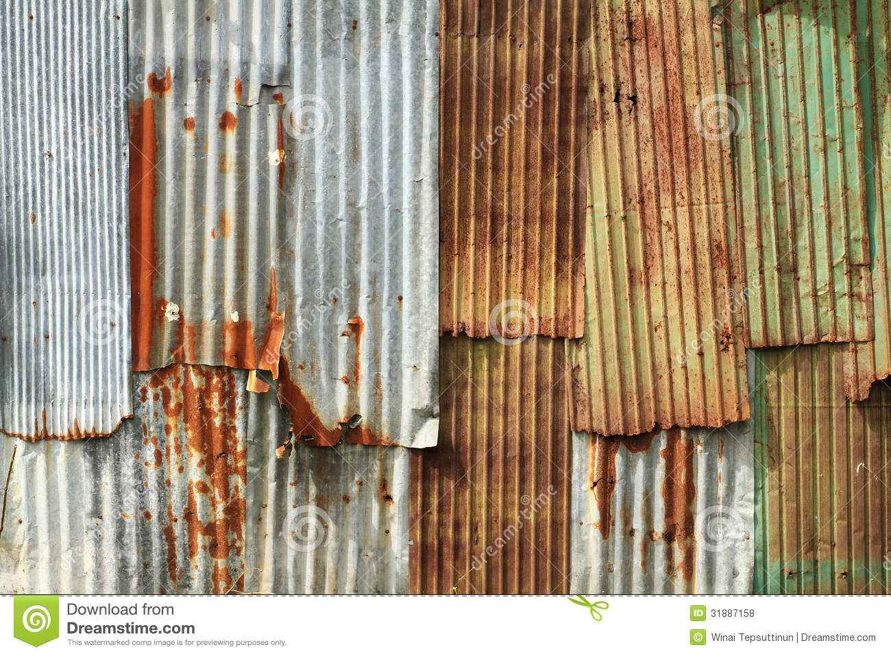 Corrugated Metal Wall Stock Photo Image Of Olden