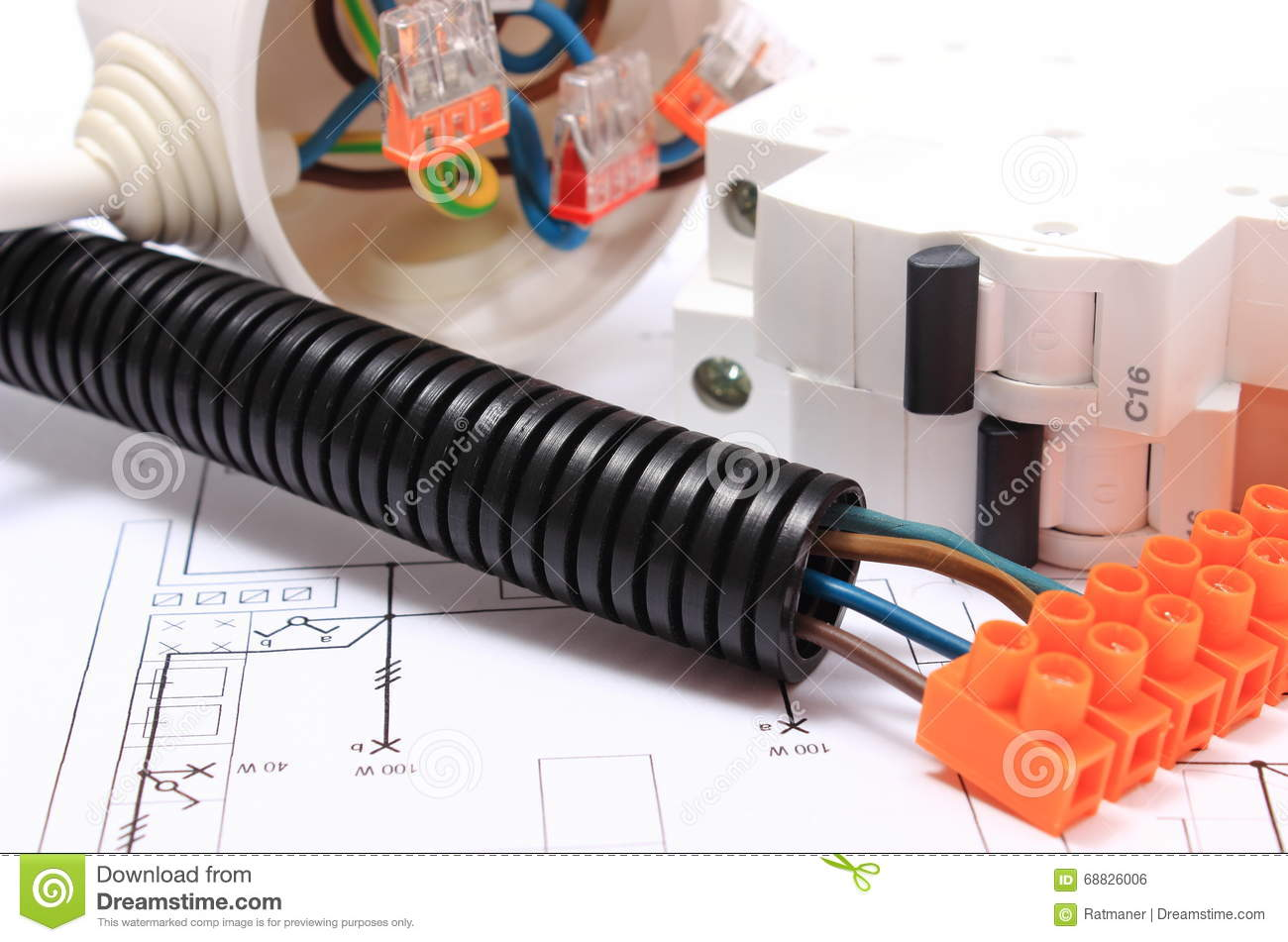 Corrugated Pipe And Component For Electrical Installations On ...