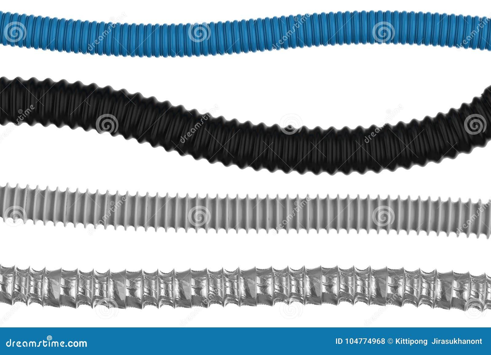 Corrugue as tubulações isoladas
