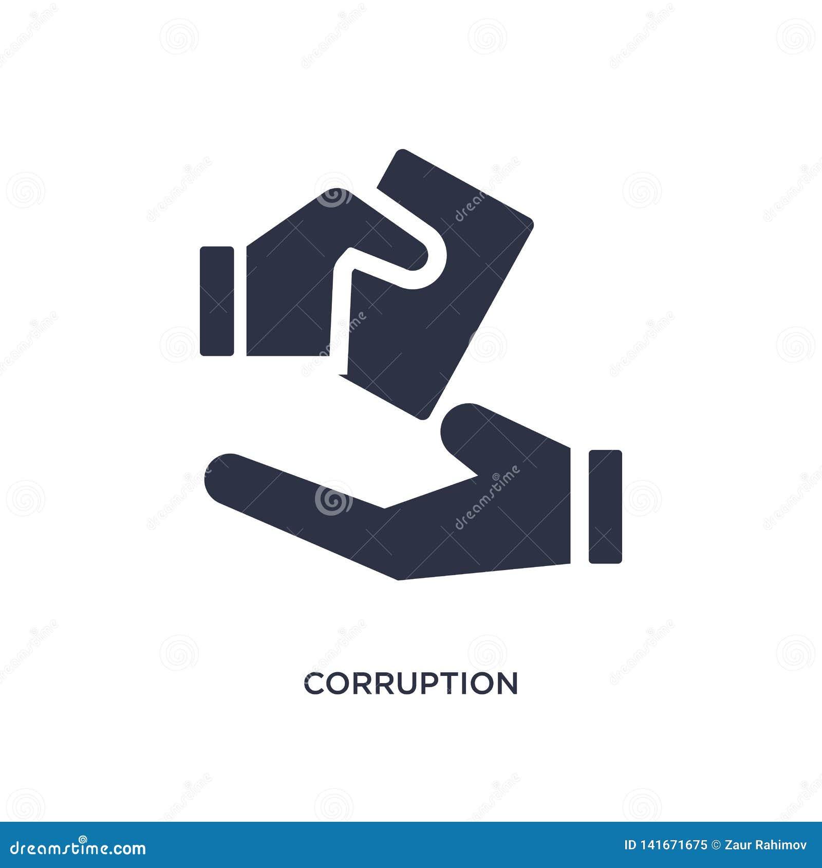 Corruptiepictogram op witte achtergrond Eenvoudige elementenillustratie van ethiekconcept