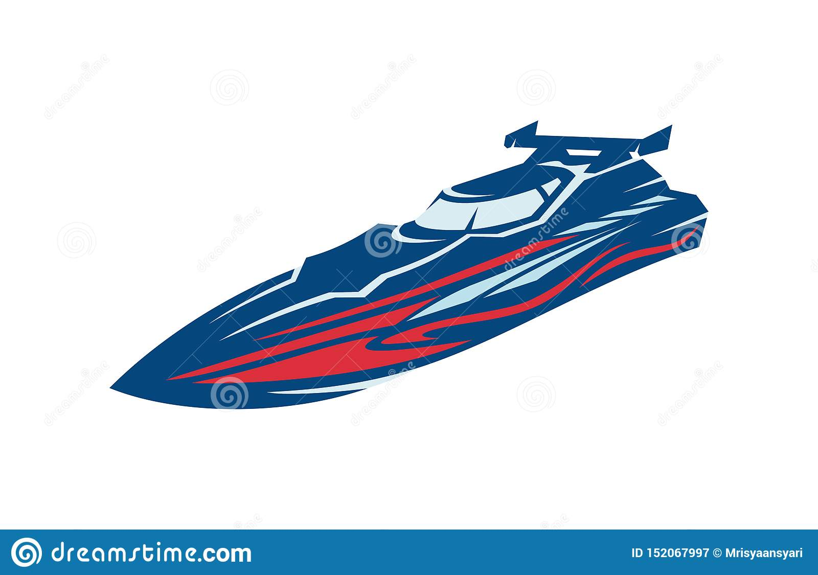 Corsa di barca di velocità