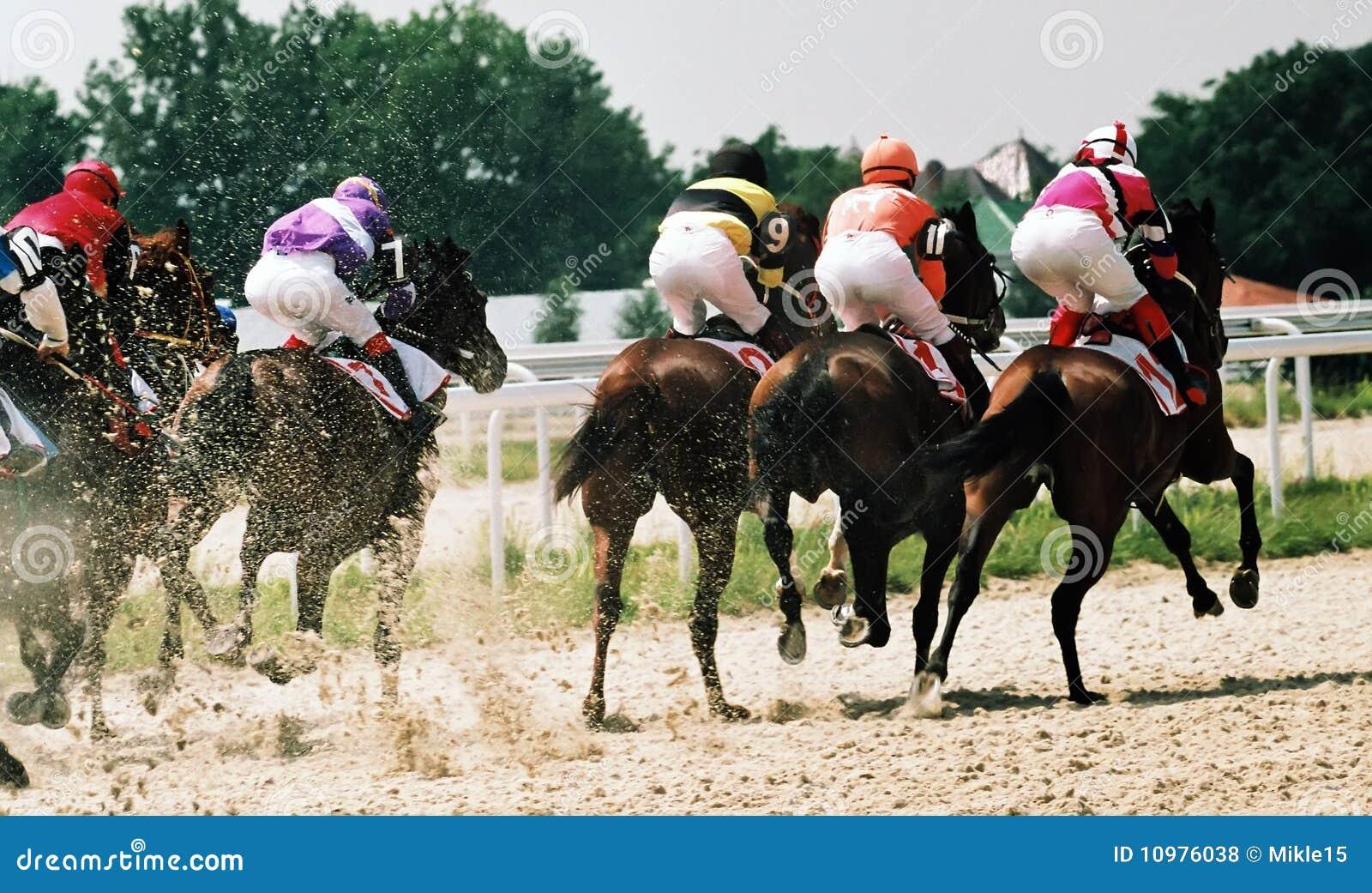Corsa di cavallo.