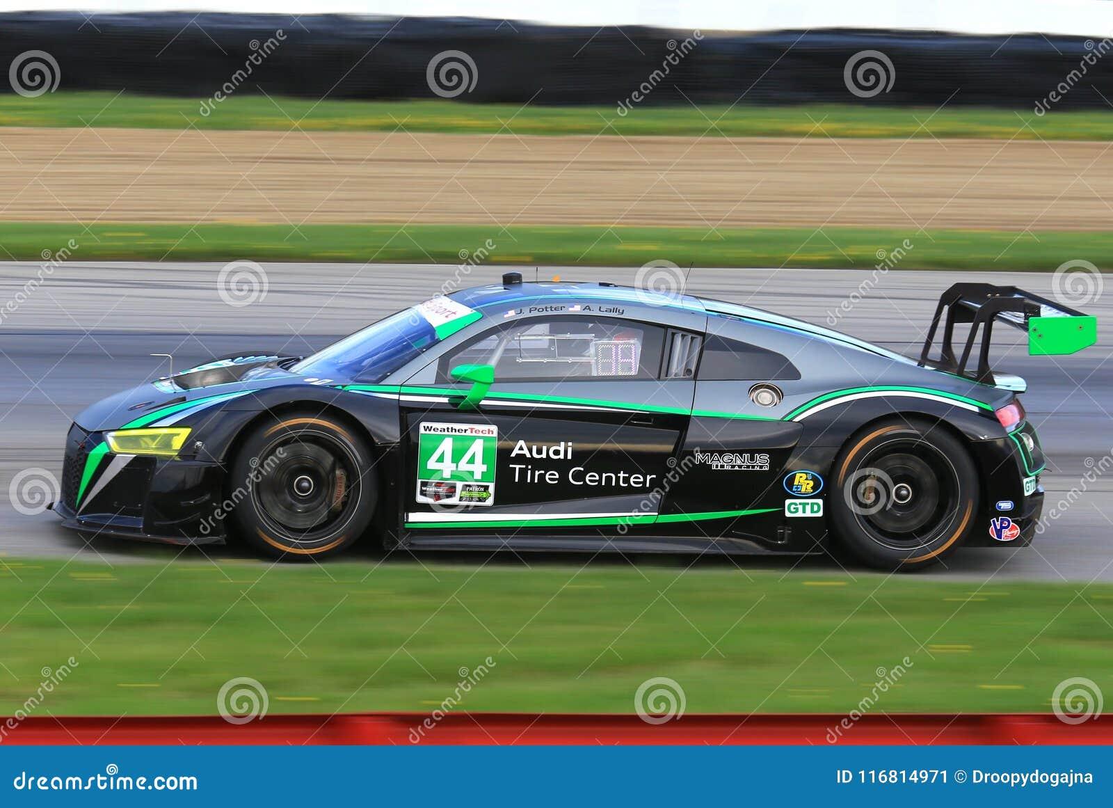 Corsa professionale di Audi GT3