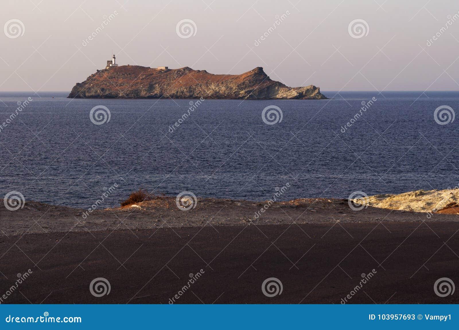 Ile de la Giraglia, Giraglia island, lighthouse, Barcaggio, Ersa, Cap Corse, Cape Corse, Haute-Corse, Corsica, France, Europe