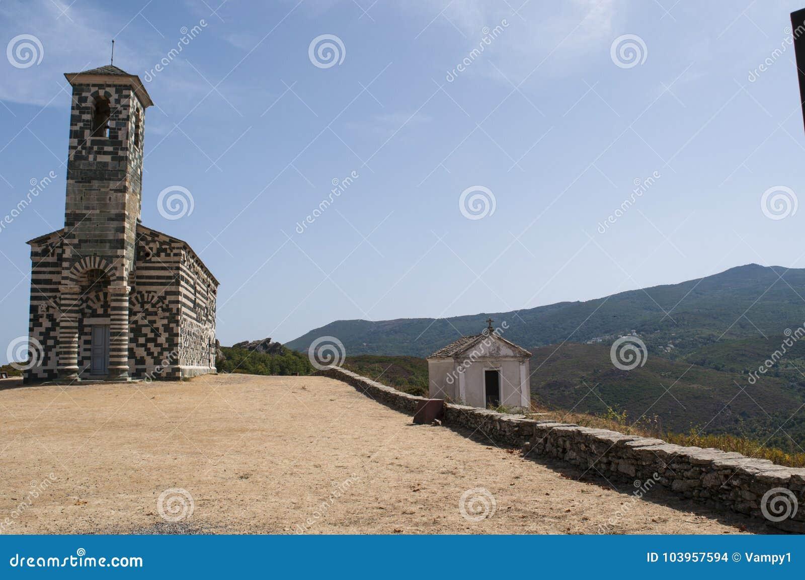 San Michele de Murato, church, Murato, Haute-Corse, Corsica, France, island, Europe