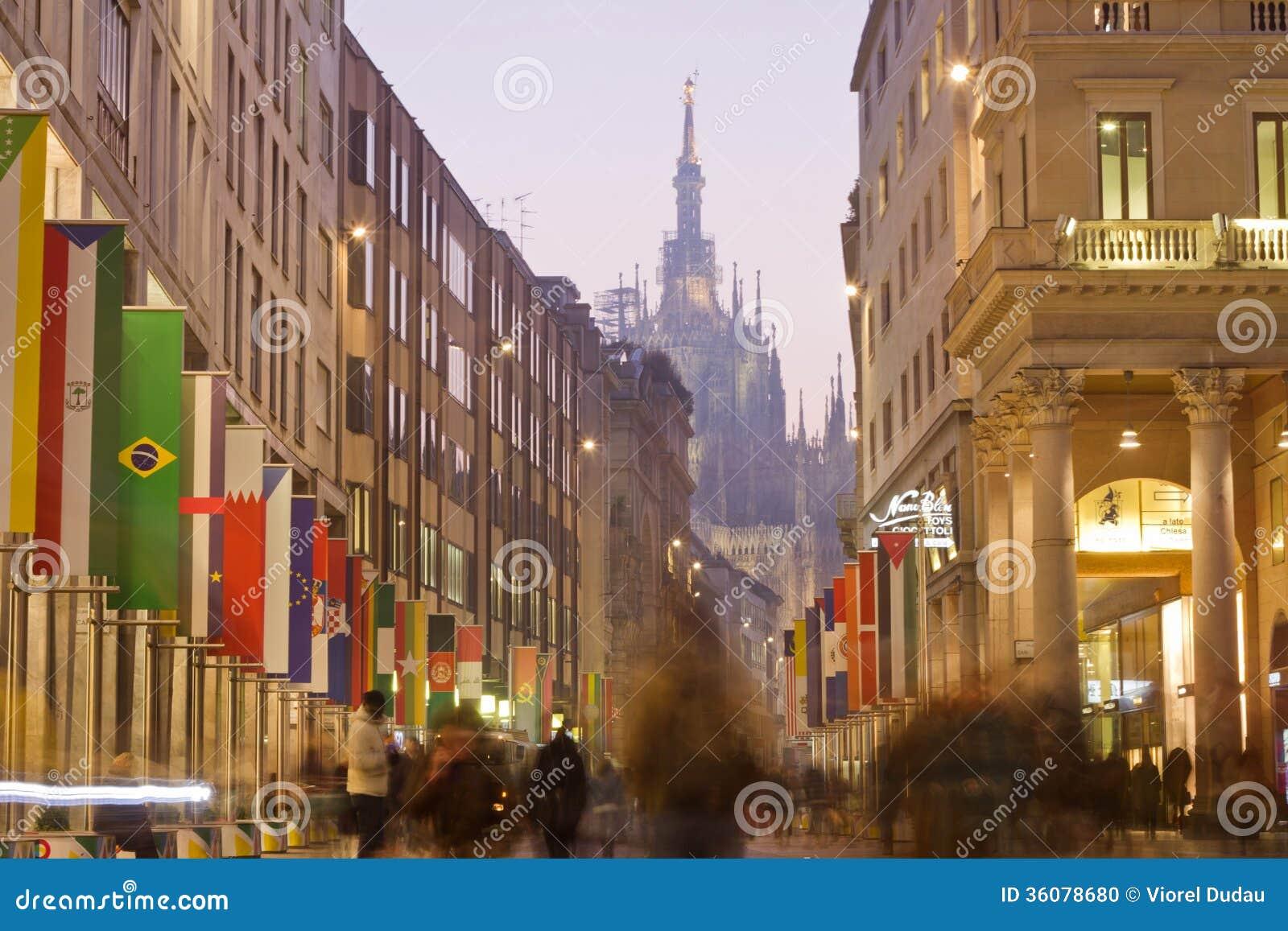Corso Vittorio Emanuele in Milano