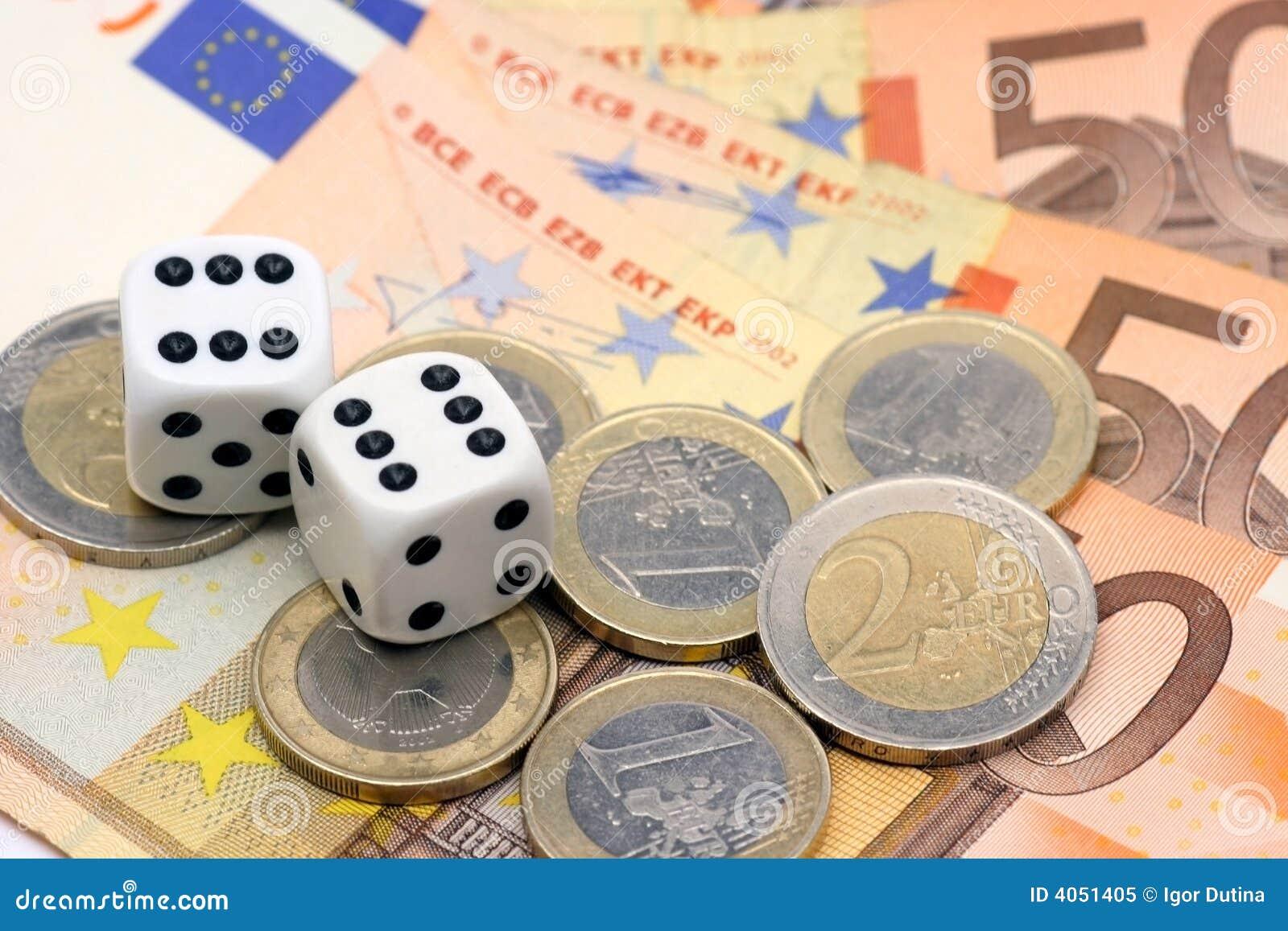 Corta e euro- dinheiro