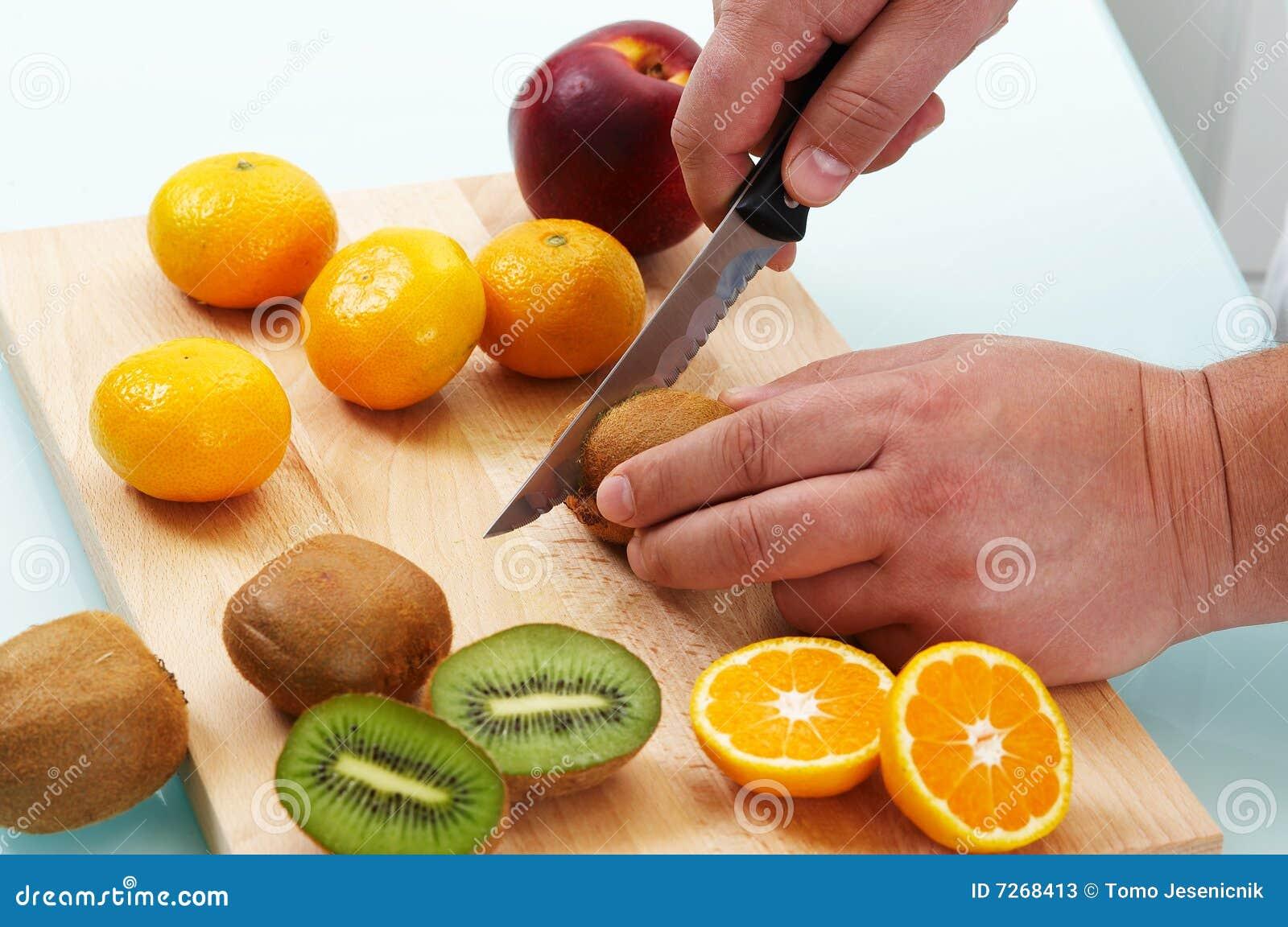 Cortar diversas frutas imagen de archivo imagen de dieta 7268413 - Cuchillos para decorar fruta ...