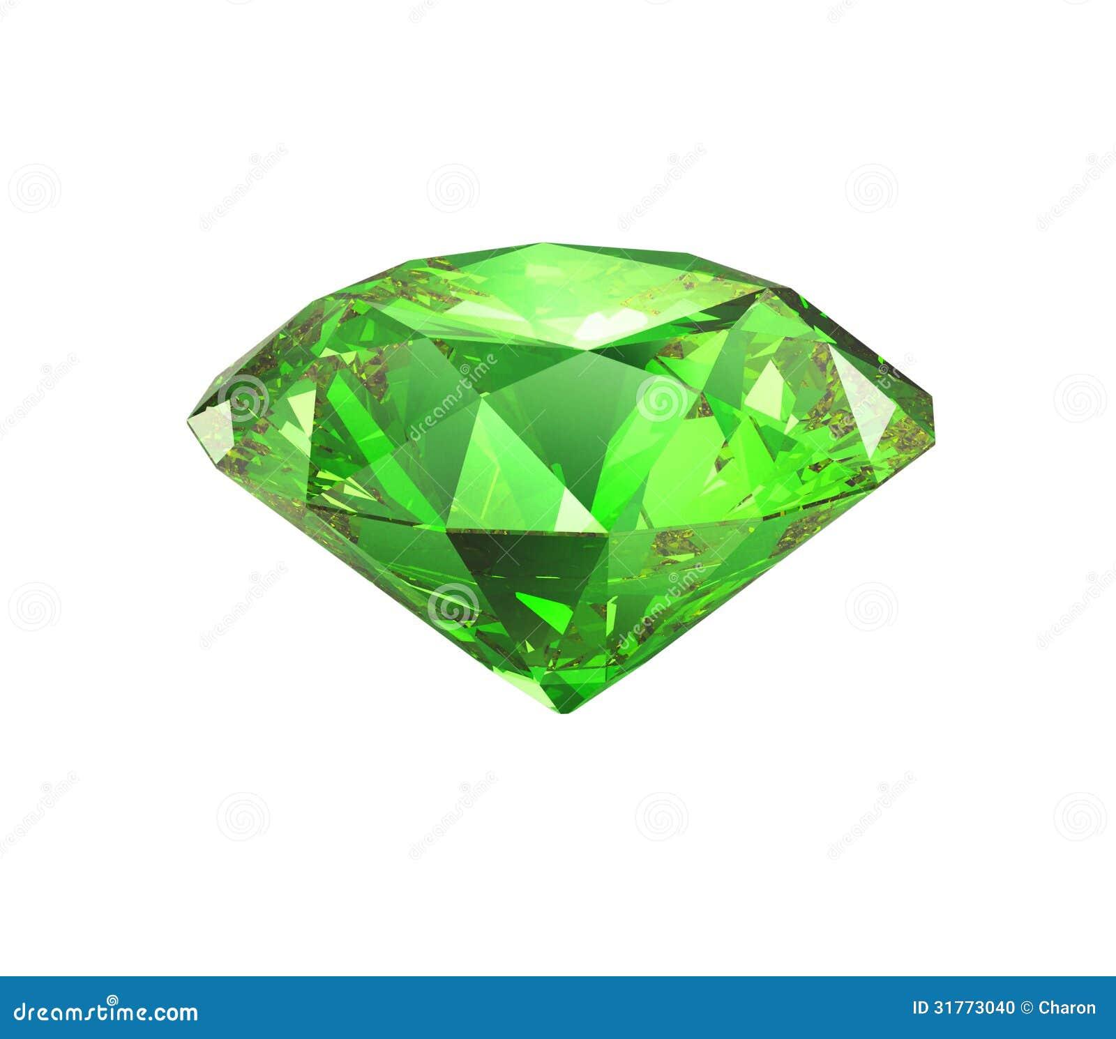 Corte brillante esmeralda aislado