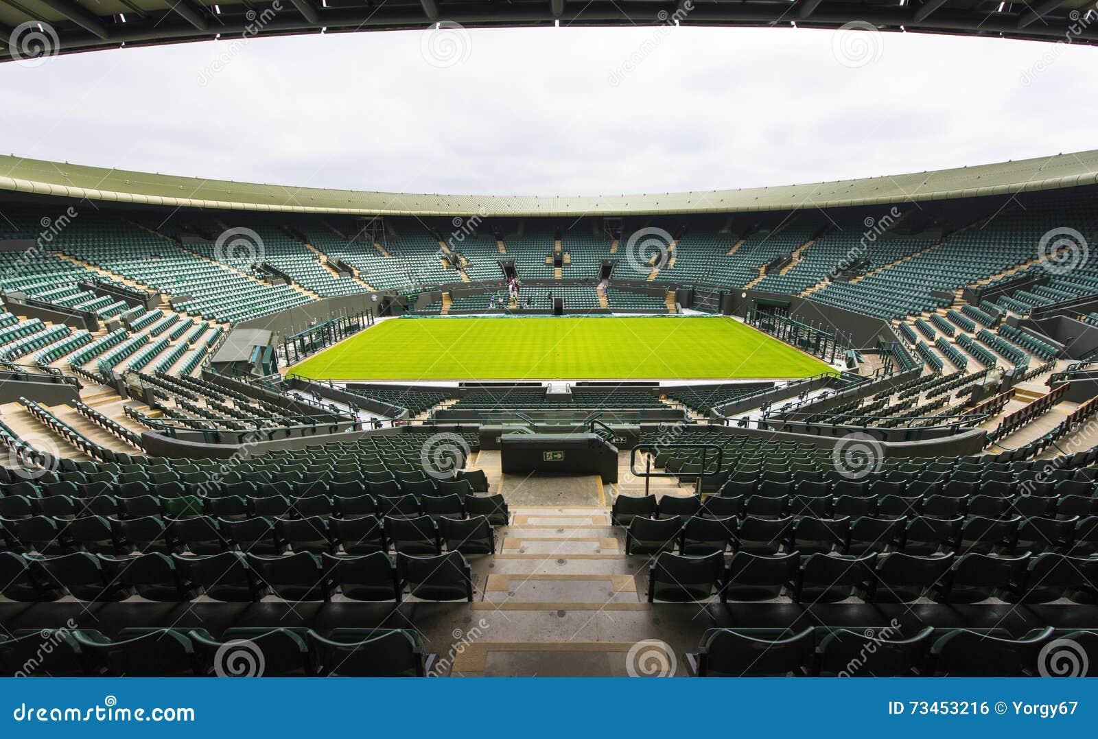 A corte central no lugar de Wimbledon