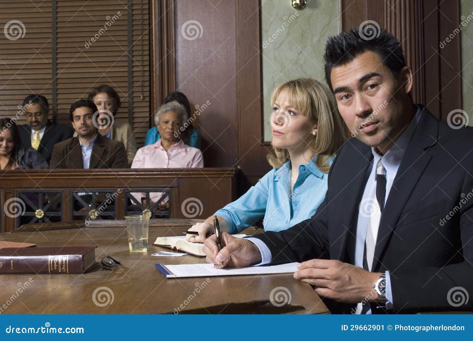 Corte de With Client In do advogado de defesa