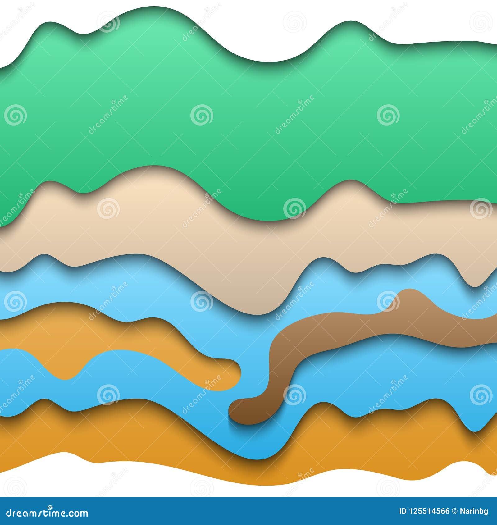 Corte de papel acodado extracto con muchos colores