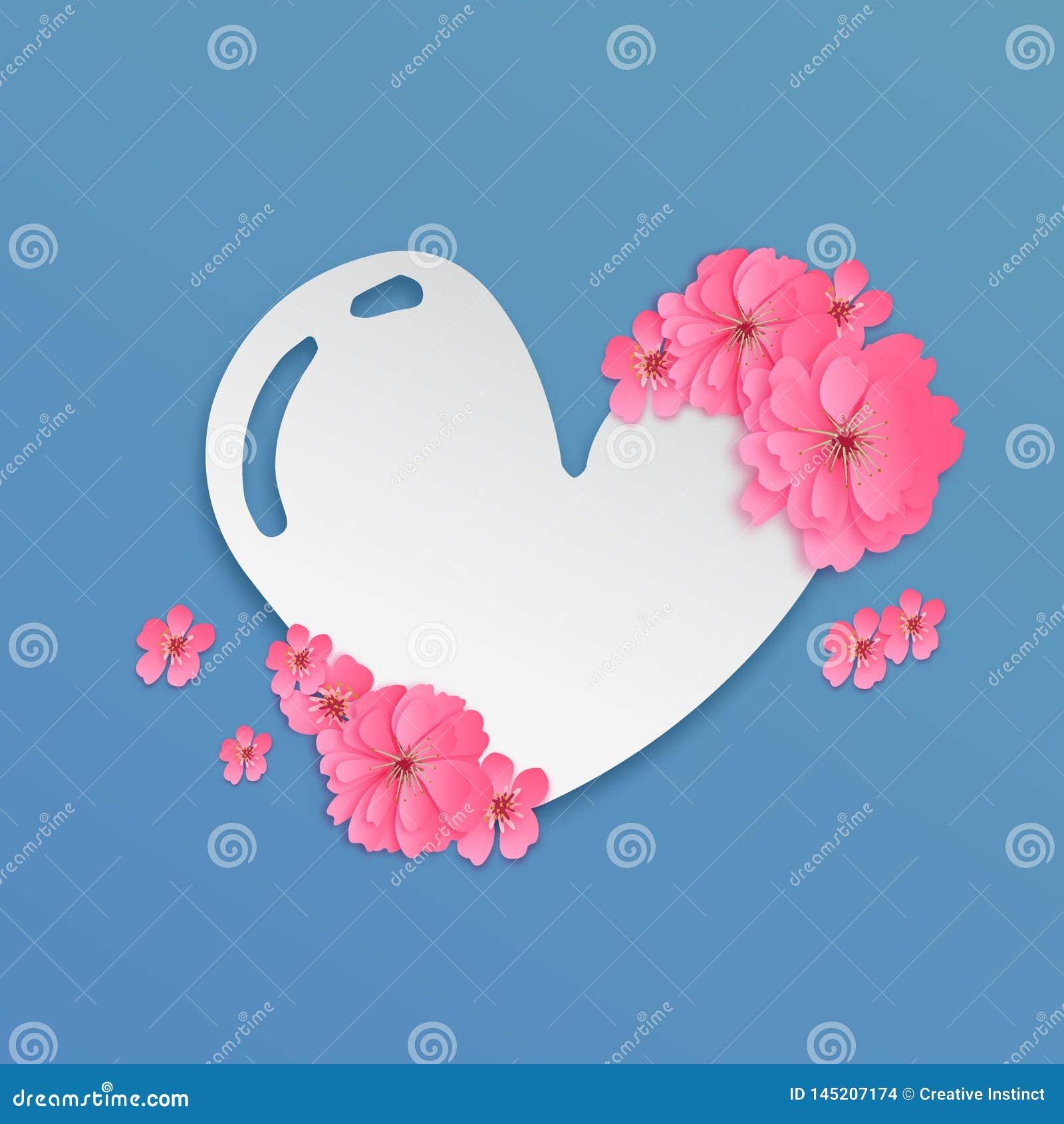 Corte de papel EPS 10 del símbolo del amor