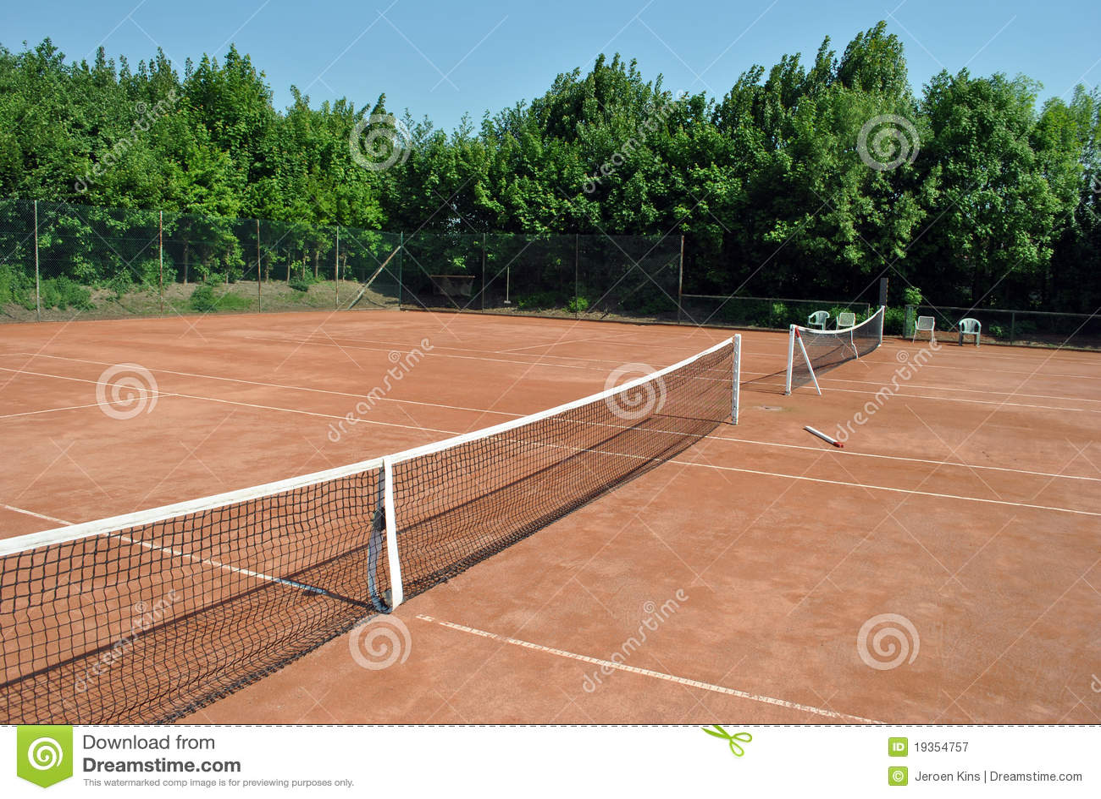 Corte de tênis vazia