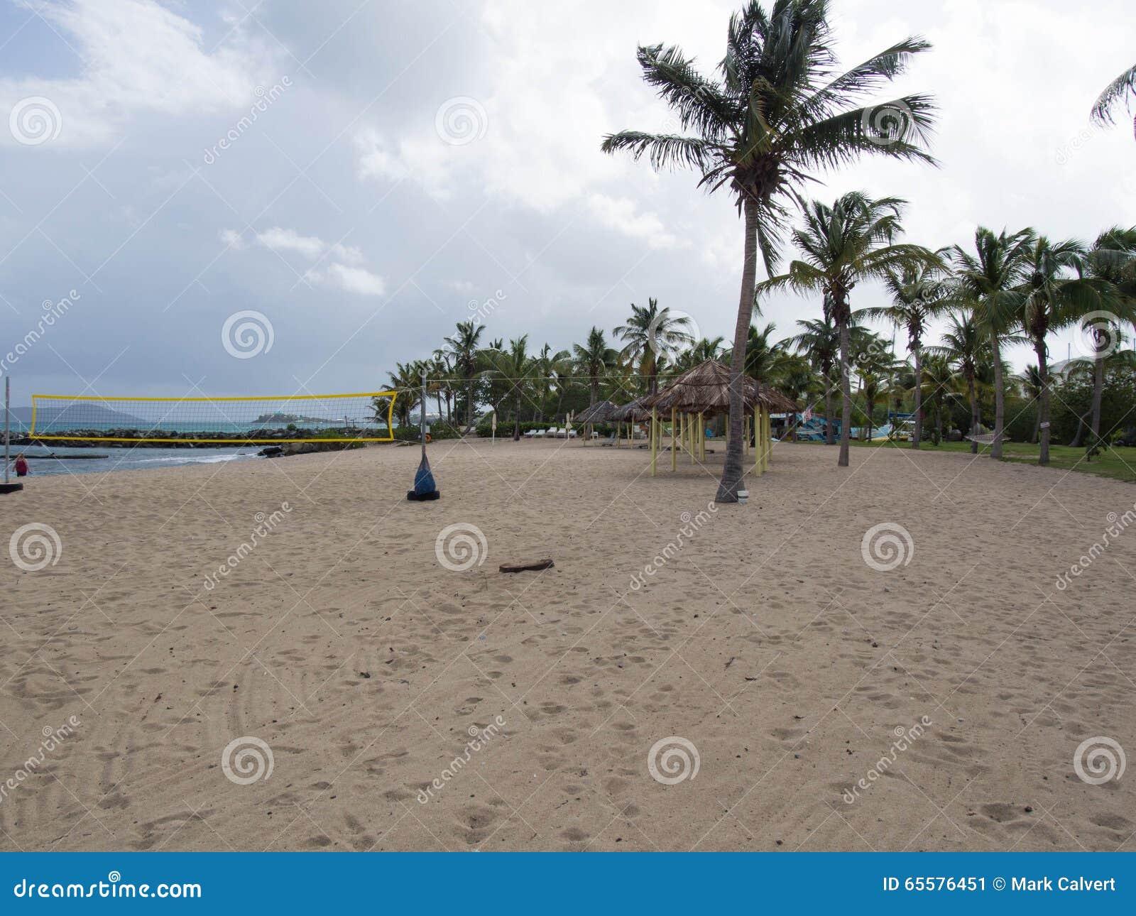 Corte de voleibol da praia em St Croix