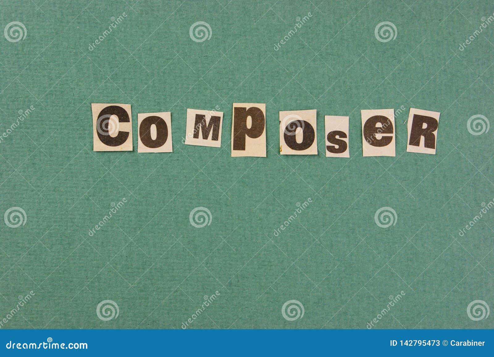 Corte do compositor da palavra do jornal