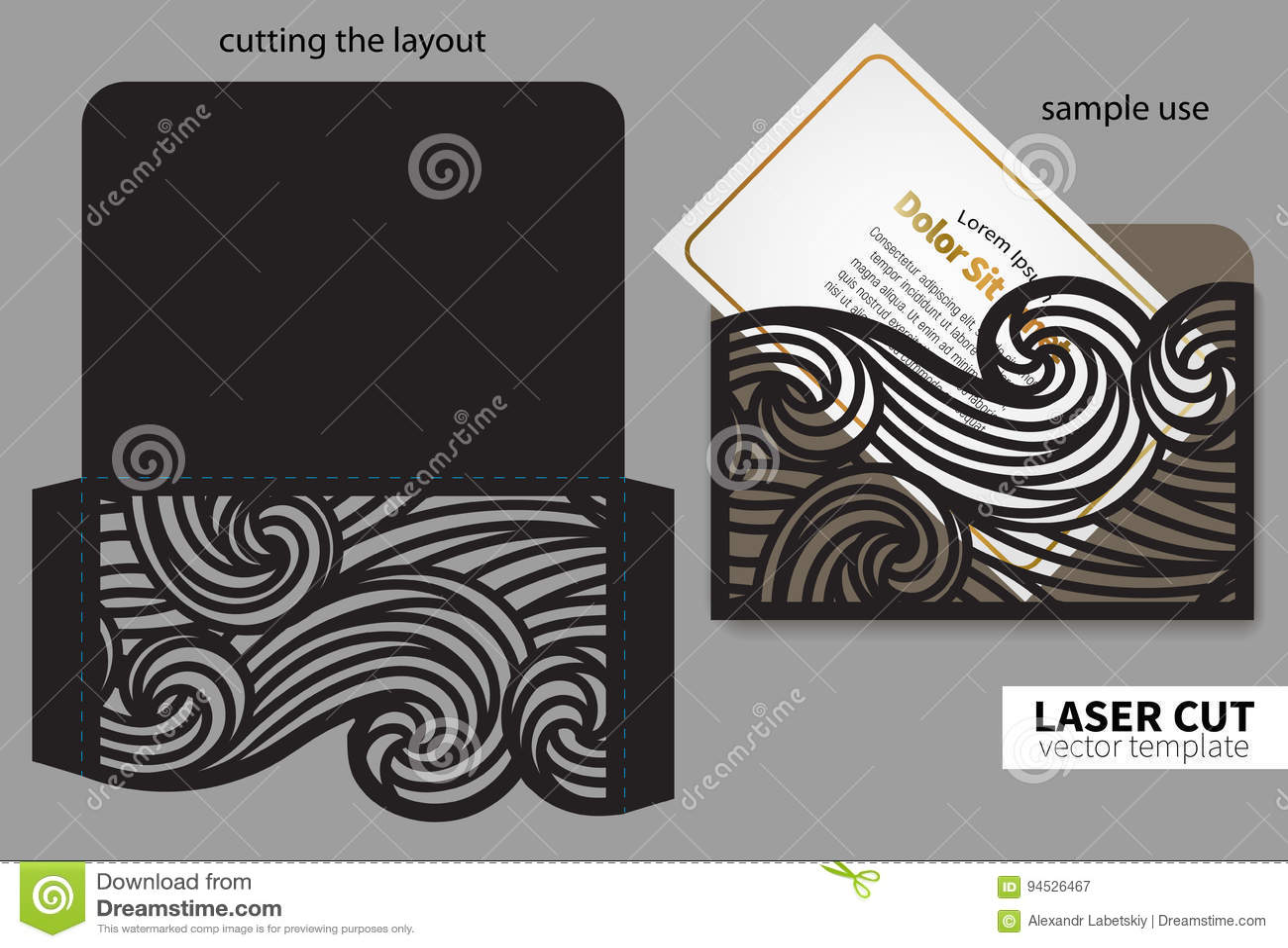 Corte do laser do vetor