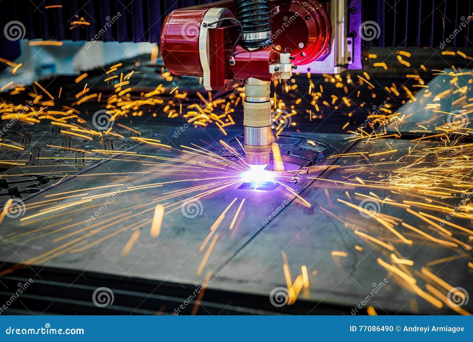 Corte do metal, tecnologia industrial moderna do plasma do laser do CNC