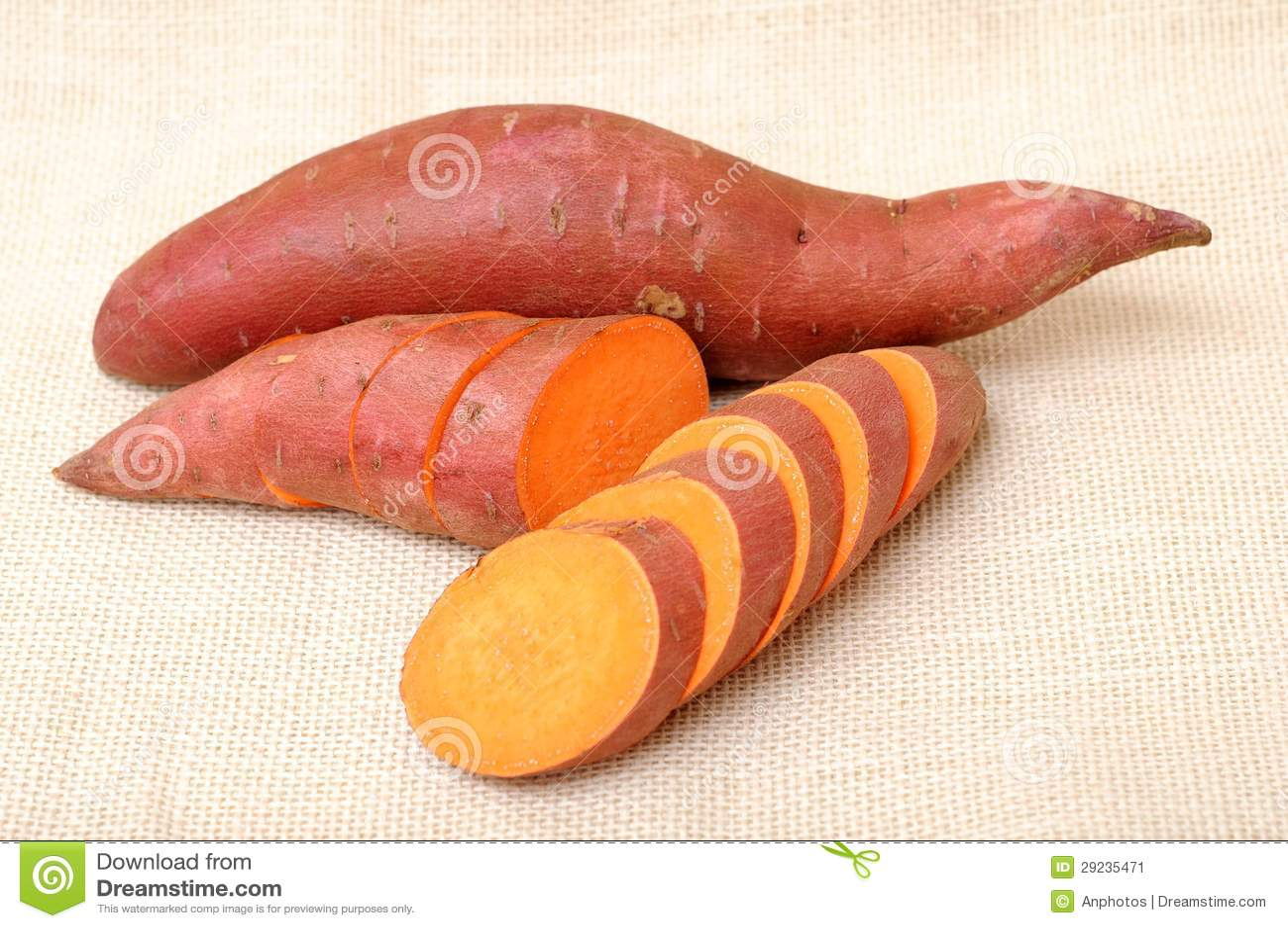 Download Corte E Batatas Doces Inteiras Imagem de Stock - Imagem de alimento, fatia: 29235471