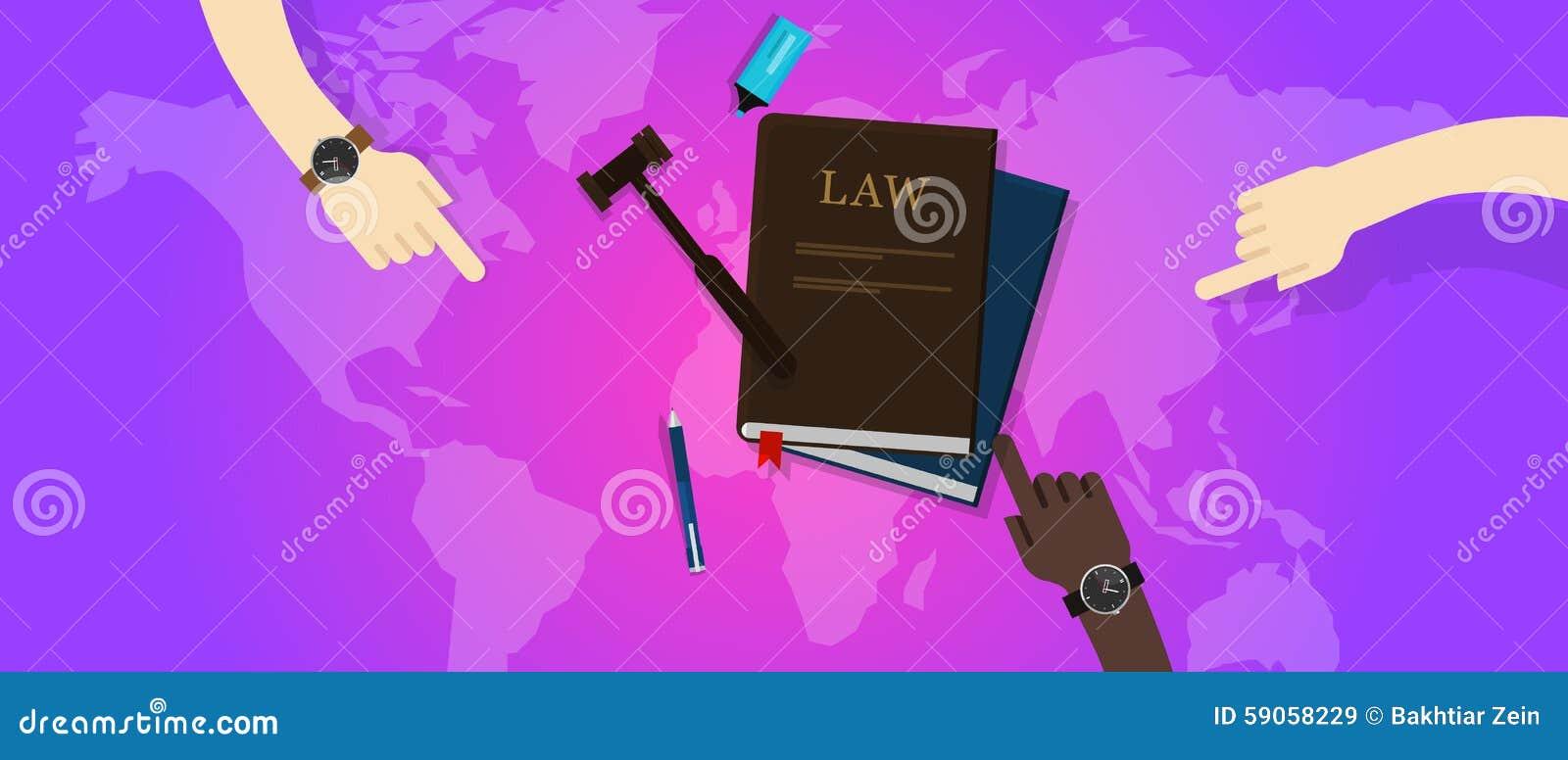 Corte global do martelo do mundo de justiça legal da lei internacional