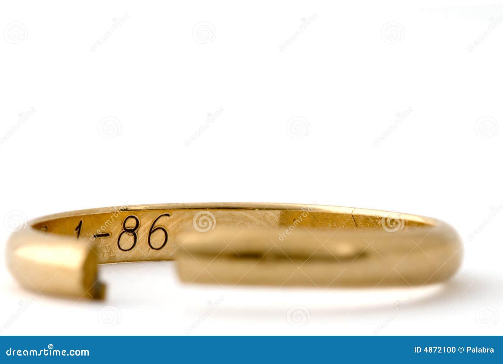 Corte o anel de casamento