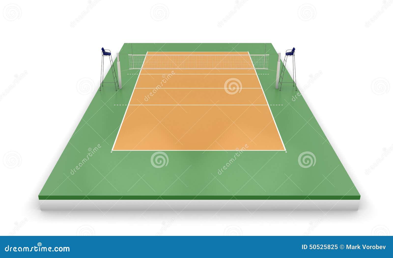 Corte o campo di pallavolo illustrazione di stock - Campi da pallavolo gratis stampabili ...