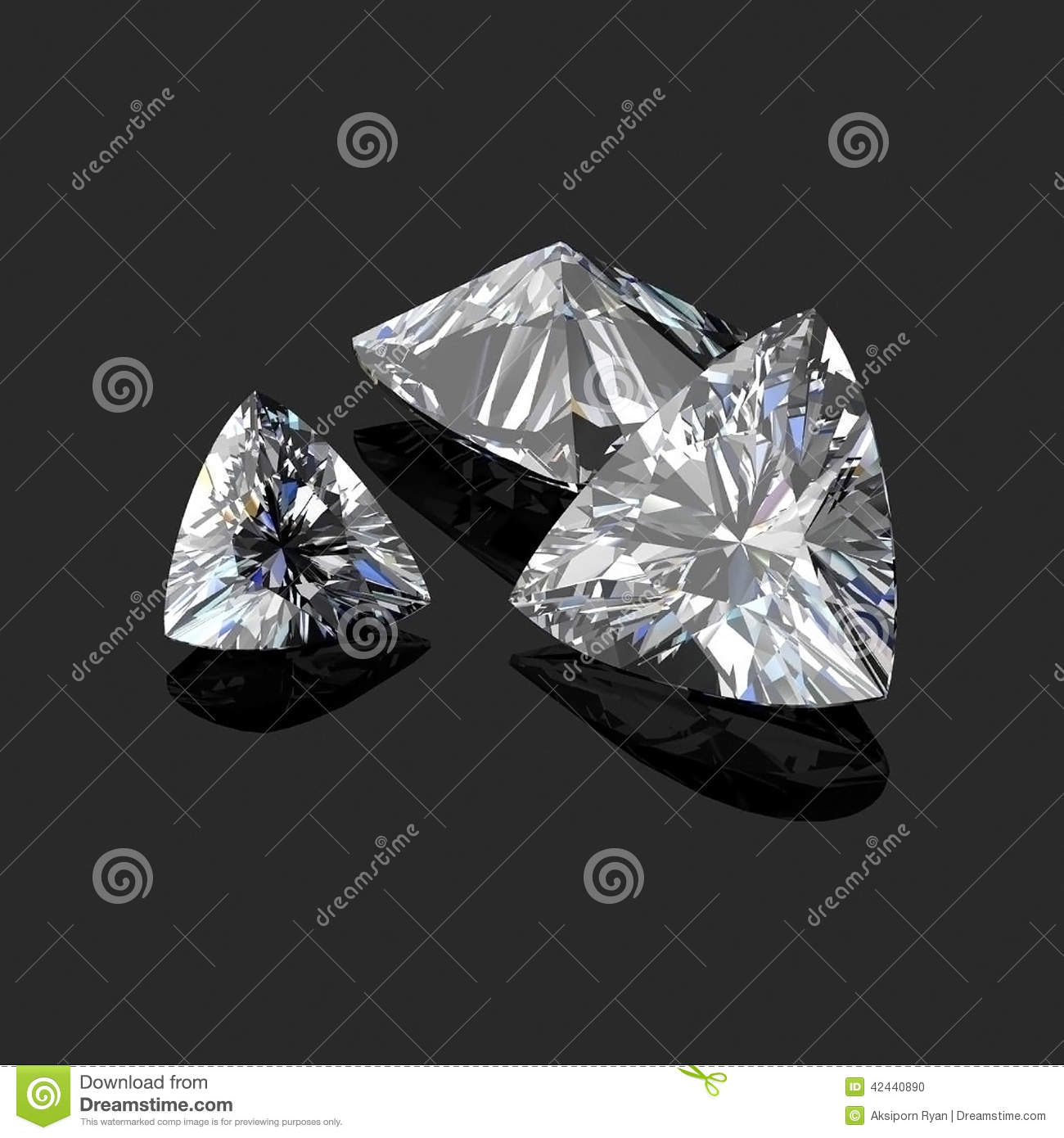 Corte trilliant de los diamantes