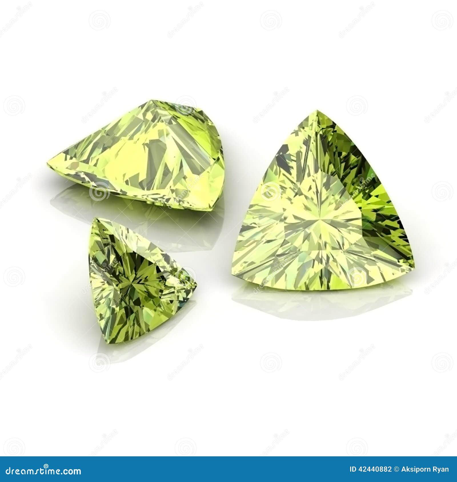 Corte trilliant del zafiro verde