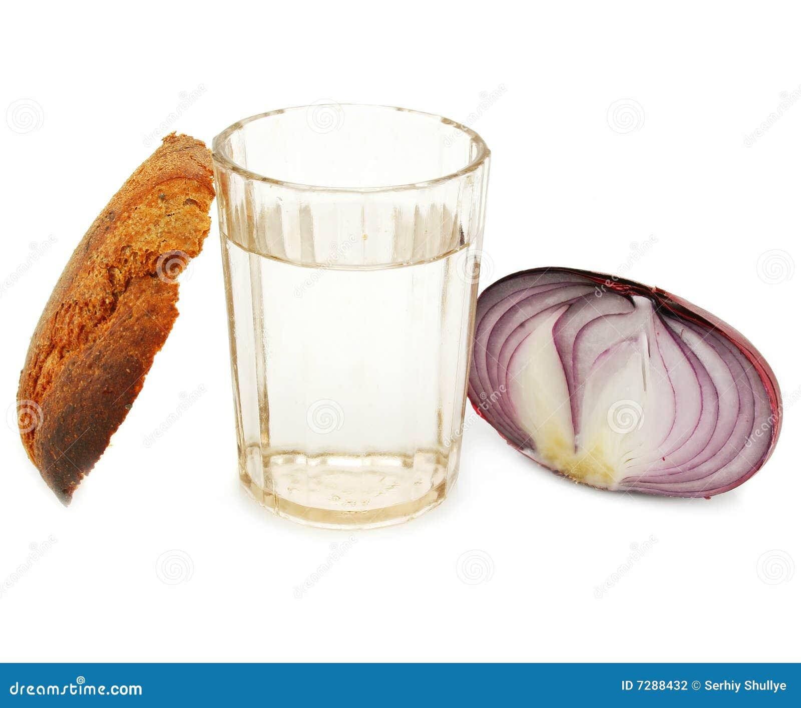 Corteza del pan, del vidrio de alcohol y de la cebolla