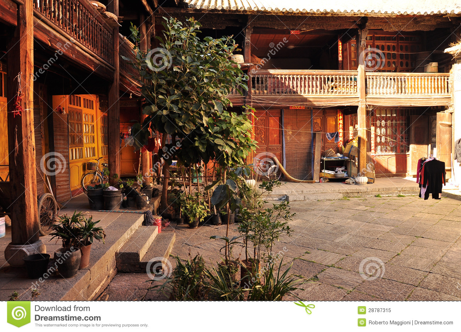 Cortile tradizionale cinese della casa immagine stock for Casa tradizionale cinese
