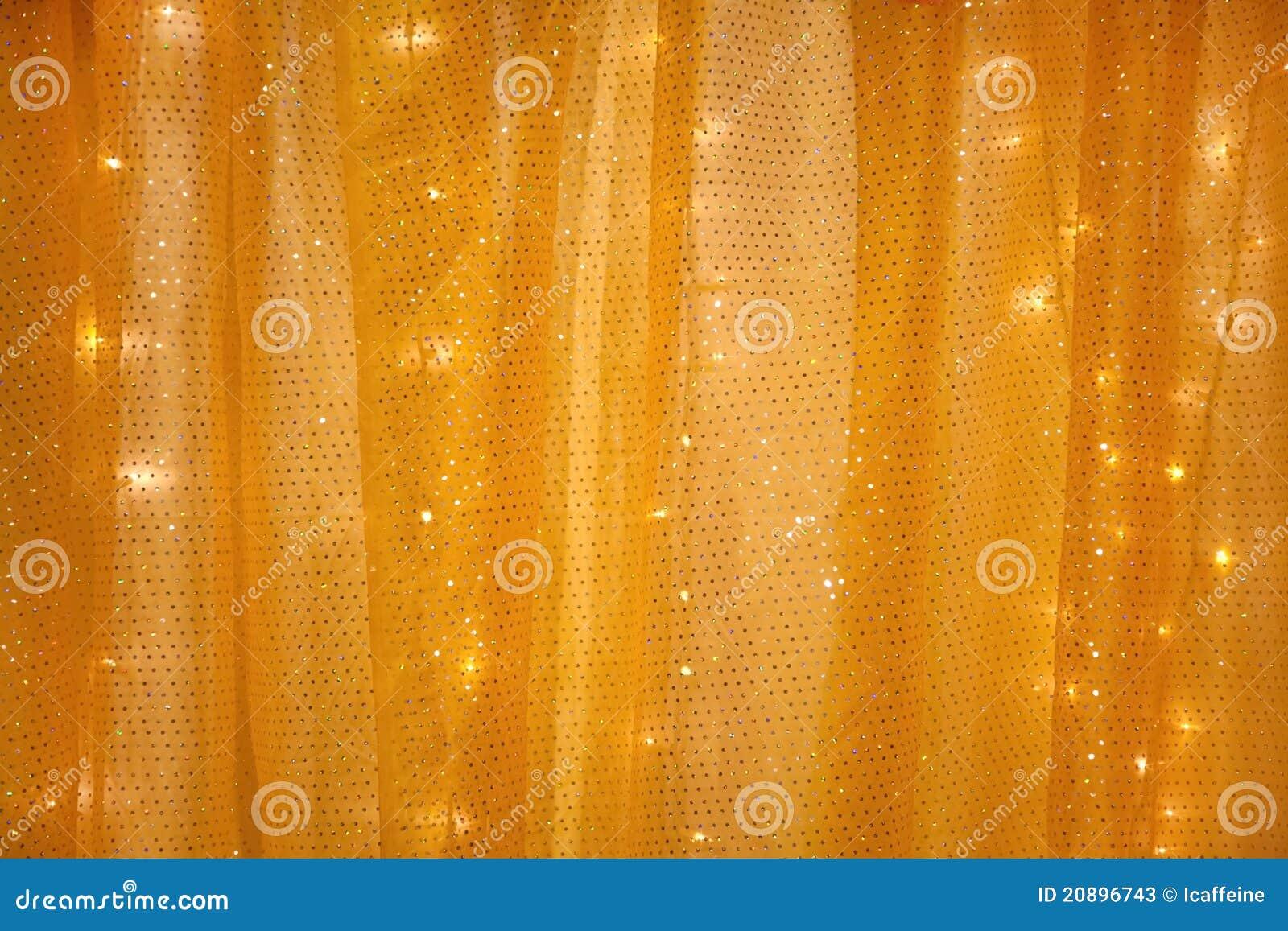 Cortina amarilla con las luces en la parte posterior fotos for Cortinas con luces