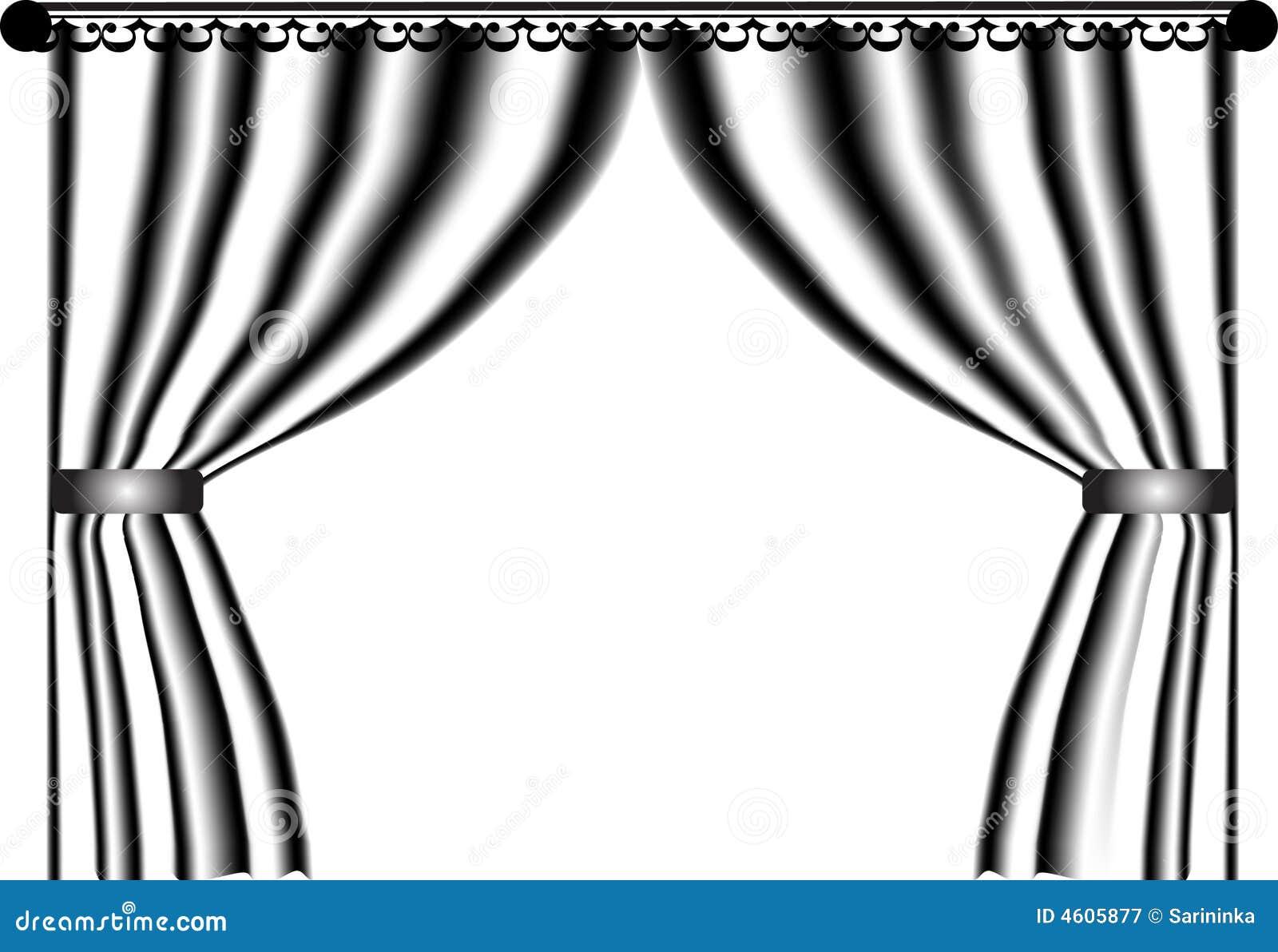 blanco cortina negro