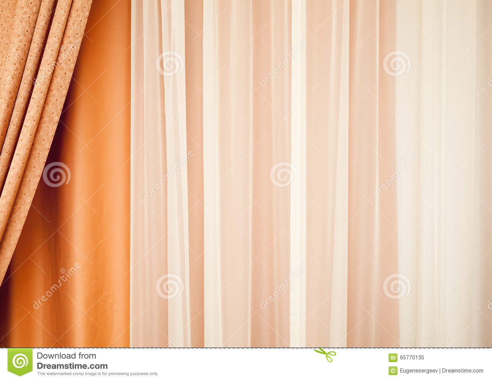 Cortina colorida com teste padrão de ondulação Fundo