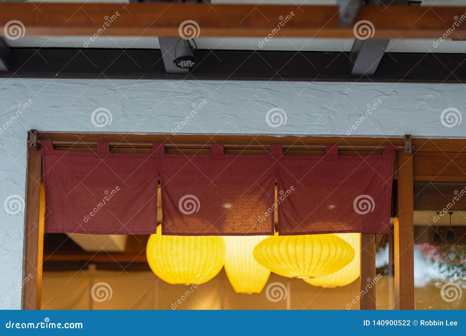 Cortina-como la tela que cuelga delante de restaurantes japoneses tradicionales