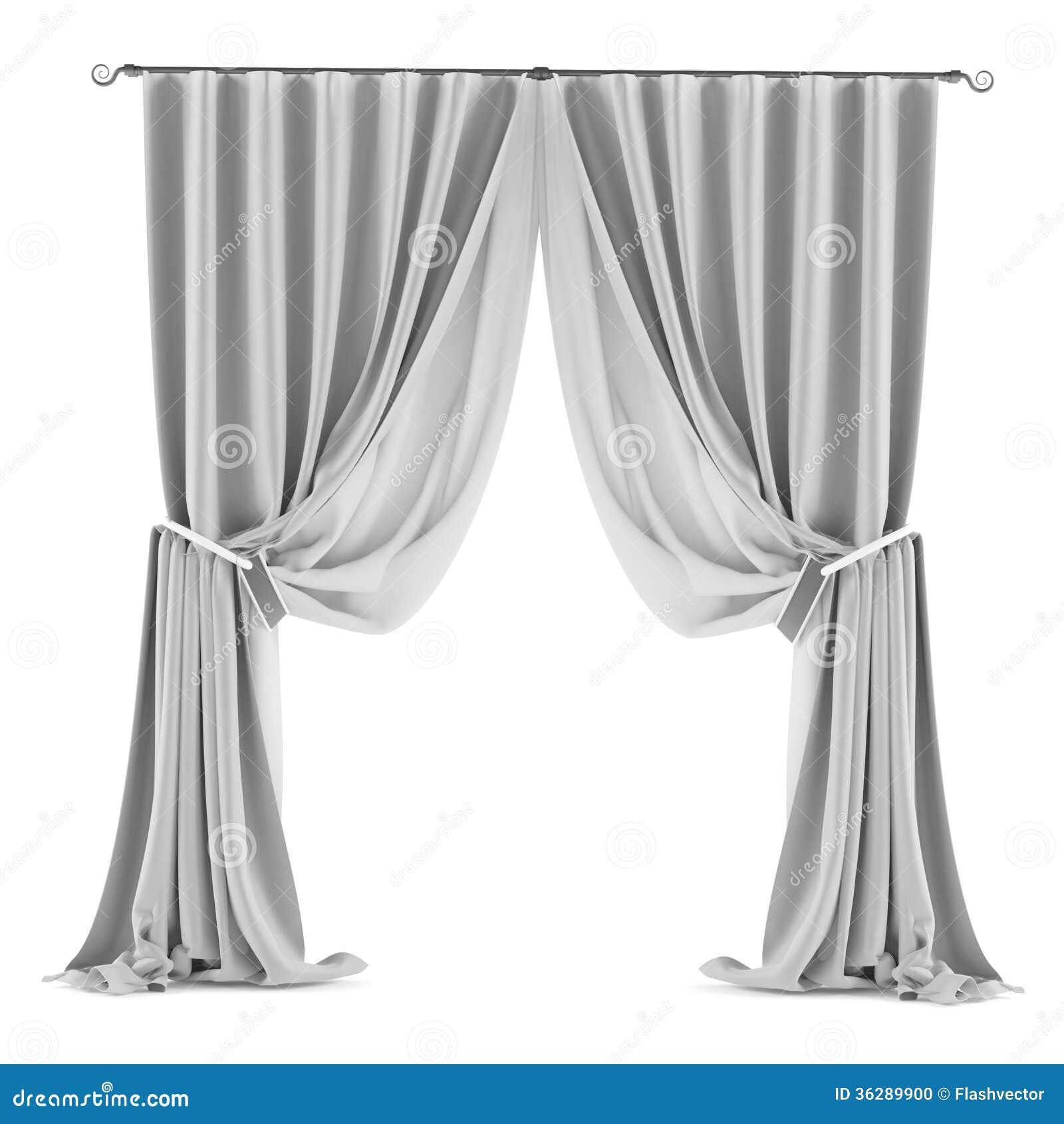 cortina gris blanca aislada foto de archivo imagen 36289900