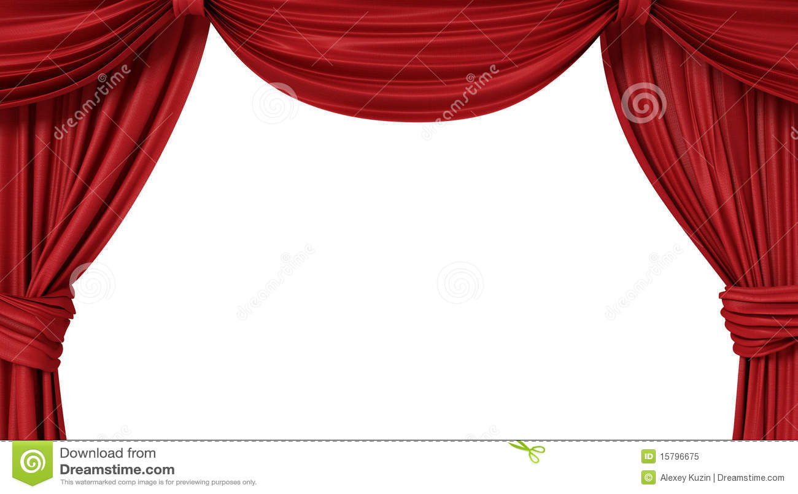Cortina Teatral Vermelha Aberta Foto De Stock Royalty Free