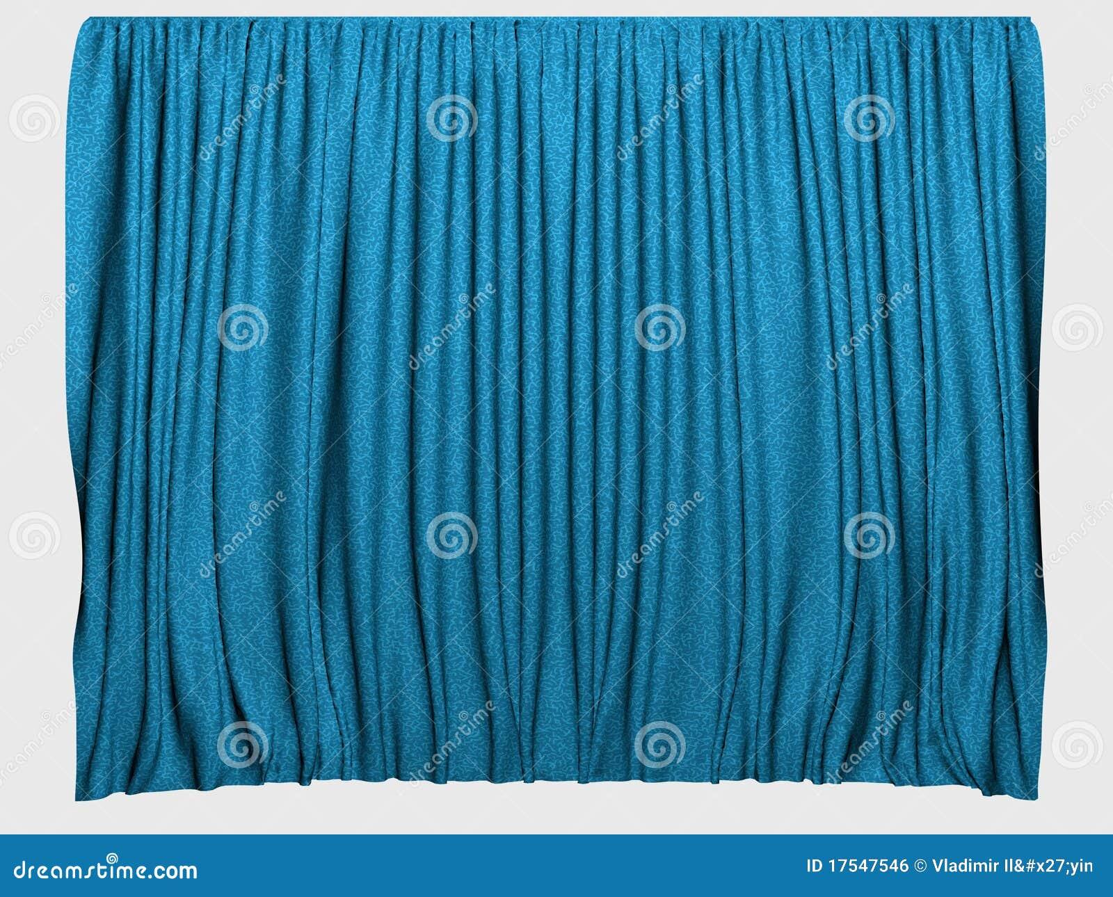 Cortinas azules imagen de archivo libre de regal as for Cortinas azules para salon