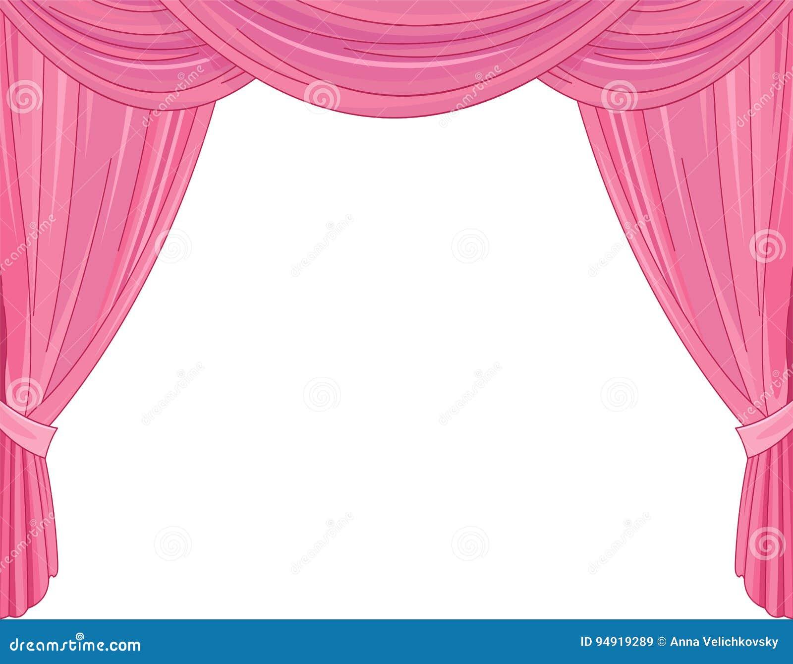 Cortinas cor-de-rosa