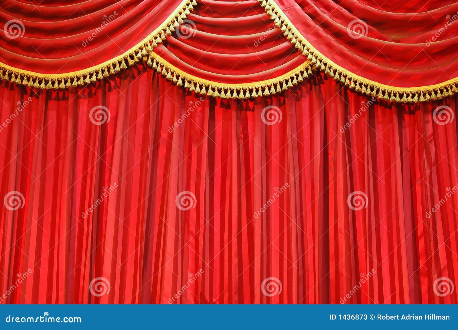 Cortinas Del Teatro Imagen De Archivo. Imagen De Material